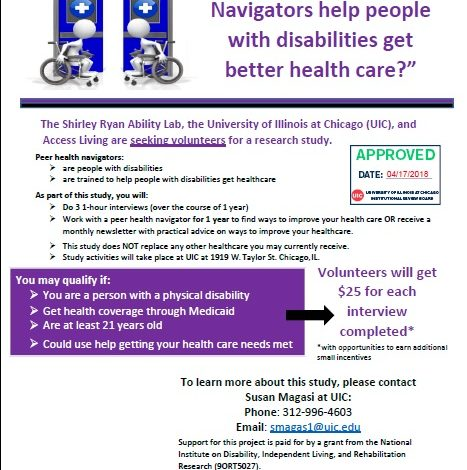 Flyer for the Research Study includes logistics and contact information