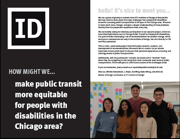 image of a flyer created by IIT students. Flyer has image of five students posing for picture, and text about the project. All of text is in body of email.