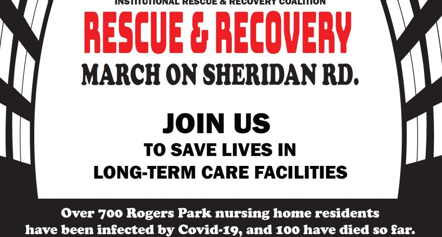 Flyer with information for the August 30 March on Sheridan Road